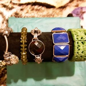 Five different uniquely different bracelets